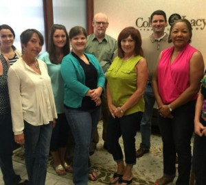 Collins & Lacy employees sport their jeans and raise money for the Denim Day Campaign.